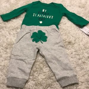 New With Tags Carter's St. Patrick's Day Outfit